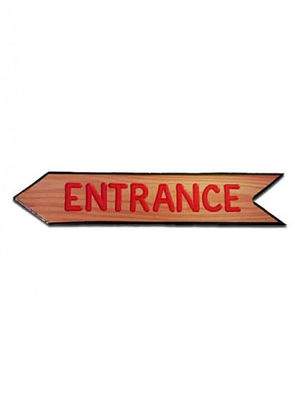 4Arrow Carved Redwood Sign