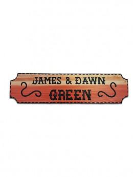 612SCR Carved Redwood Sign