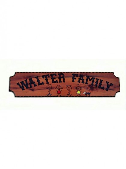 620FAM Carved Redwood Sign