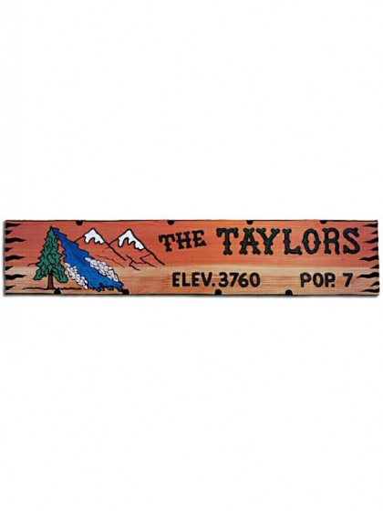621MTR Carved Redwood Sign