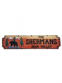8131BMT Carved Redwood Sign