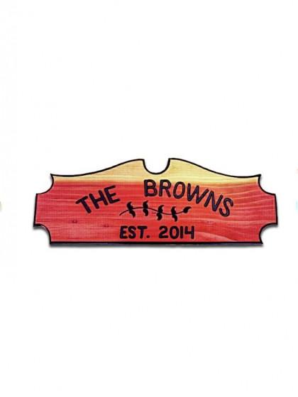 8EL Carved Redwood Sign