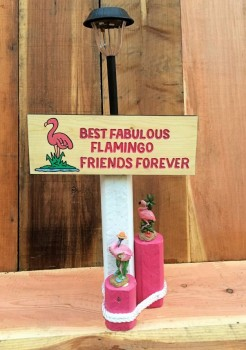 Flamingo Friends Solar Lamp