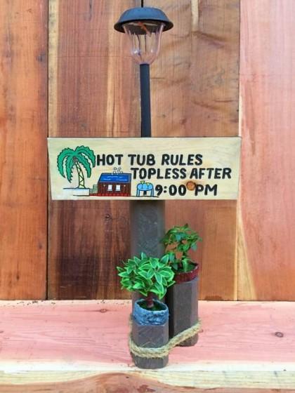 Hot Tub Rules Solar Lamp