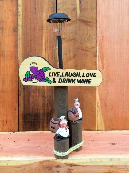 Live Love Laugh Solar Lamp