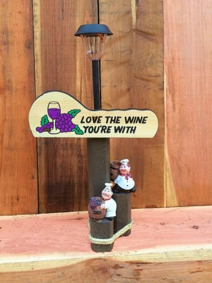 Love the Wine Solar Lamp
