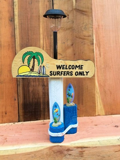 Surfers Only Solar Lamp