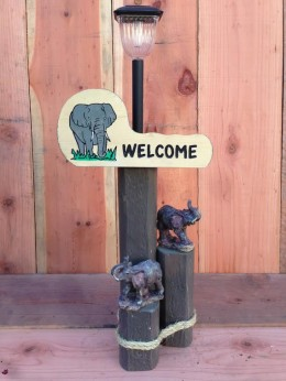 Elephant Solar Light