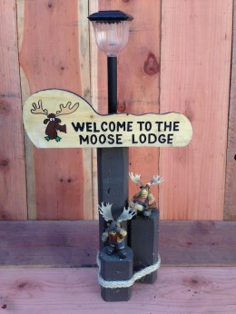 Moose Lodge Solar Light