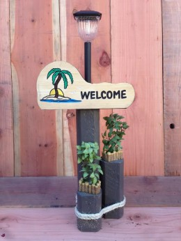 Palm Tree Solar Light